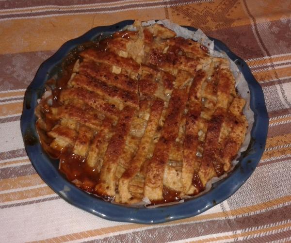 torta di mele con caramello